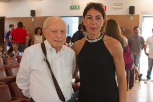 Il Senatore Meduri insieme a Manuela De Lorenzo dell'ADMO Reggio Calabria