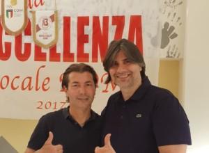 Il presidente onorario Cogliandro con il direttore Mimmo Fiorino, responsabile del Milan Junior Camp per Calabria e Sicilia